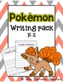 Pokemon Writing Pack K-2