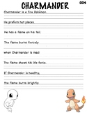 Pokemon Writing Practice_Charmander