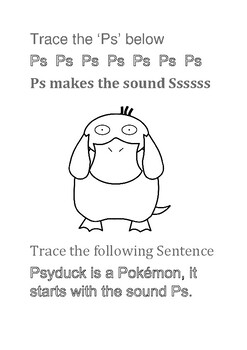 Pokemon Writing Worksheets