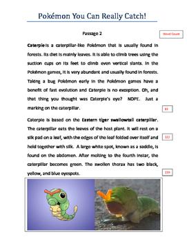Pokémon You Can Really Catch ! 10 Fluency Passages Gr 5-6