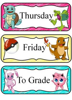 Pokemon classroom decorations