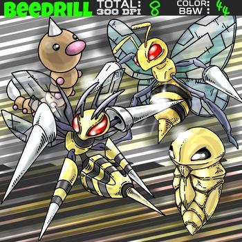Pokemon clipart - Beedrill