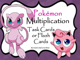 Pokemon multiplication flash cards