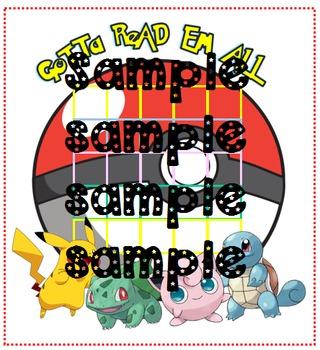 Pokemon sticker reading chart