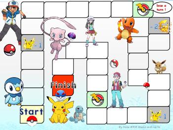 Pokemon themed gameboard