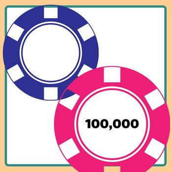 Poker Chip Templates for Number Work and Place Value Color Clip Art