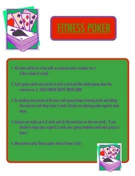 Physical Education - Poker Fitness