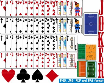 Poker Playing cards clip art casino games math Paper Heart ace printable -145