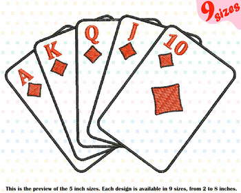 Poker Royal Flush Designs for Embroidery cards casino las vegas 196b
