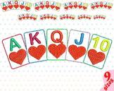 Poker Royal Flush Embroidery Design casino games Spade Heart Diamond 144b
