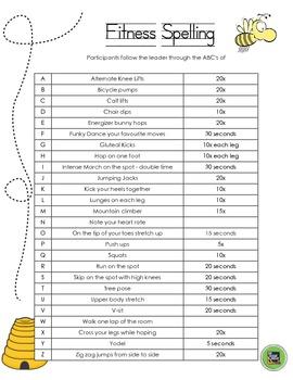 Poker Run & Fitness Spelling
