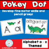 Pokey Dot Alphabet Themed Activities for Fine Motor Center