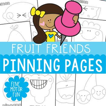 Pokey Pin Activities: Fruit Friends Theme