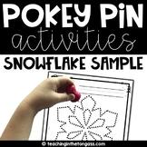 Pokey Pin Free Snowflake Sample
