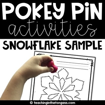 Pokey Pin Free Snowflake Sample
