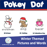 Pokey Pin Push Pin Fine Motor Skills for WINTER