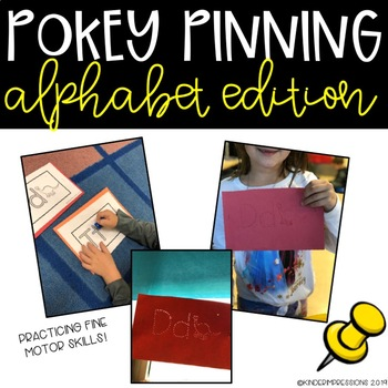 Fine Motor Activity-Alphabet Pokey Pinning