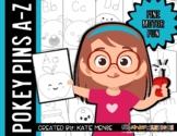 Pokey Pins A-Z Push Pin Art {Fine Motor Skill Activities}