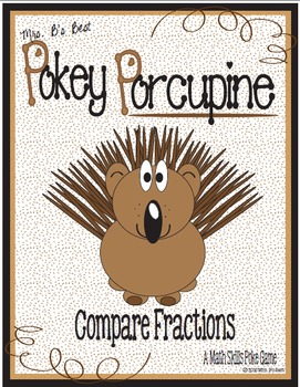 Pokey Porcupine Poke Cards: Compare Fractions