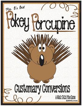 Pokey Porcupine Poke Cards: Customary Conversions