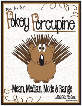 Pokey Porcupine Poke Cards: Mean, Median, Mode & Range