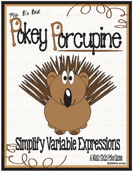 Pokey Porcupine Poke Cards: Simplify Variable Expressions