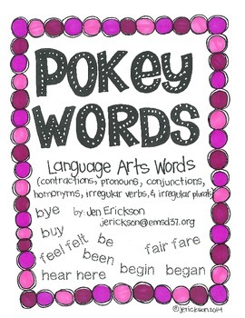 Pokey Words:  Language Arts Words