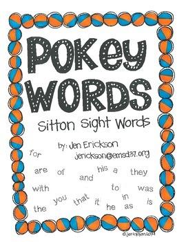 Pokey Words:  Sitton Sight Words