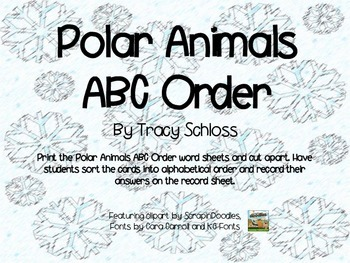 Polar Region, Polar Animals, ABC order