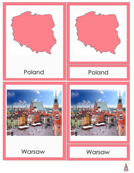 Poland Montessori 3-part cards
