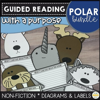 Polar Animal Activities Guided Reading Nonfiction Features Bundle