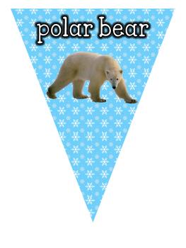Habitats: Polar Animal Bunting Display