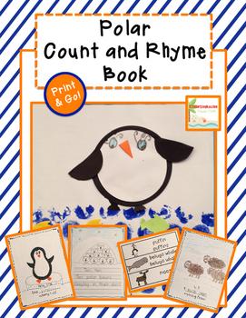 Polar Animal Count and Rhyme Book - Winter Craftivity
