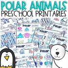 Polar Animal Math and Literacy Worksheets for Preschool (January)