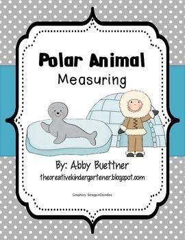 Polar Animal Measuring Math Center