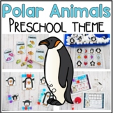 Polar Animal Math and Literacy Centers for Preschool, PreK, and Kinder