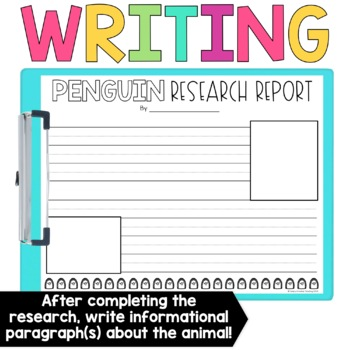 Polar Animal Research Booklets and Writing Pages