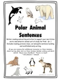Polar Animal Sentence Building - Cut & Paste