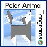 2D Shapes Center Polar Animal Printable Tangram Puzzles