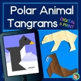 2D Shapes Center Polar Animal Tangrams Printable and DIGITAL - Google Slides™