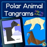 Polar Animal Tangrams Printable and DIGITAL for Google Classroom™