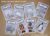Polar Animal Word Cards