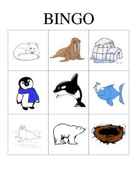 Polar Animals Bingo