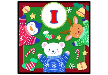Polar Animals, Christmas, Banner, Bulletin Board Letters, Alphabet Posters A-Z