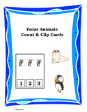 Polar Animals Count and Clip Cards