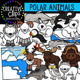 Polar Animals Clipart {Creative Clips Clipart}