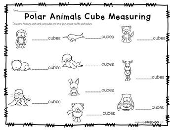 Polar Animals Cube Measuring