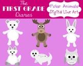Polar Animals {Digital Clip Art}  Arctic Fox, Moose, Snowy Owl, Seal, Polar Bear