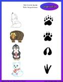 Polar Animals Francais/english game and worksheet