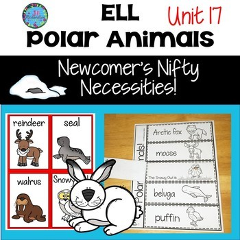 ESL Vocabulary -  Polar Animals (For ELL Newcomers)